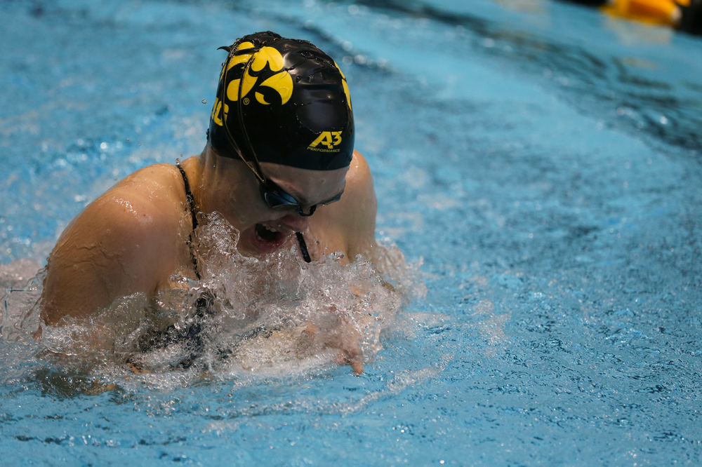 Iowa's Lexi Horner during Iowa swim and dive vs Minnesota on Saturday, October 26, 2019 at the Campus Wellness and Recreation Center. (Lily Smith/hawkeyesports.com)