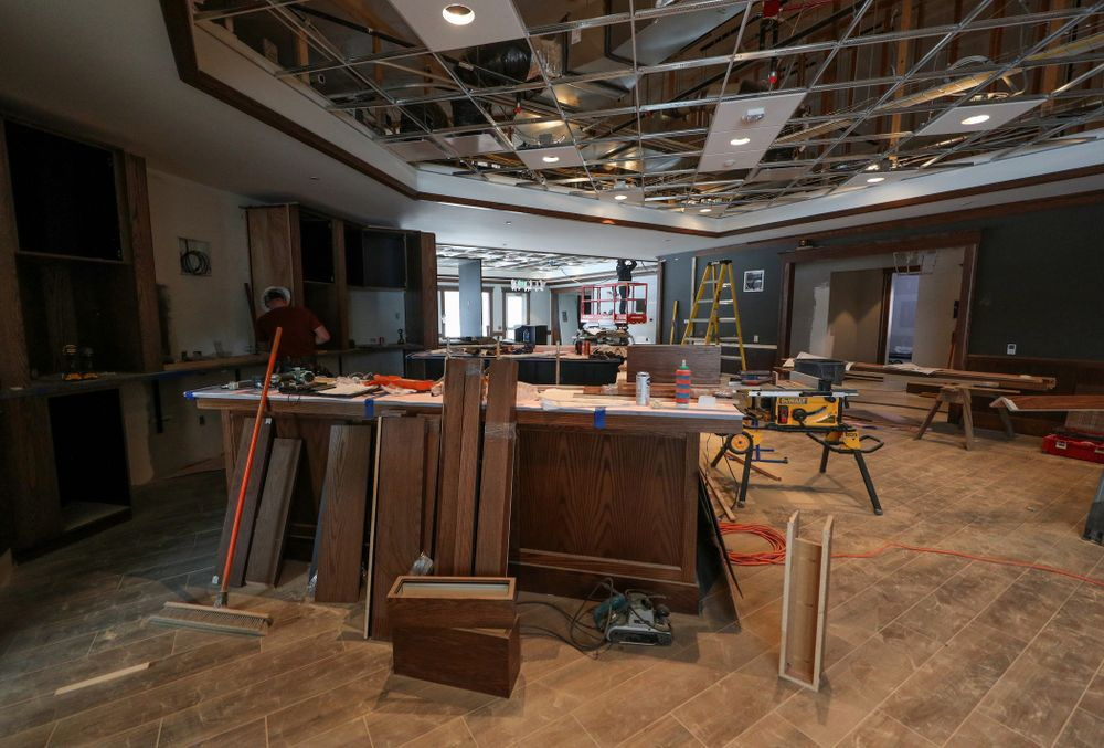 The bar area of the Nagle Family Clubhouse Tuesday, January 28, 2020 at Finkbine Golf Course in Iowa City. (Brian Ray/hawkeyesports.com)
