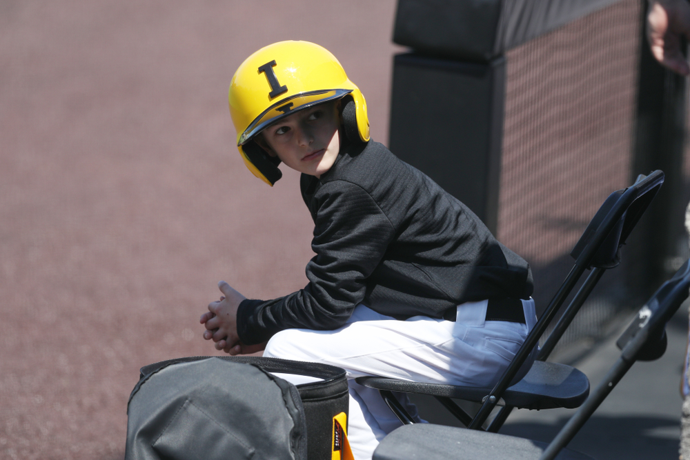 Batboy Gavin Gorzelanny  during game two against UC Irvine Saturday, May 4, 2019 at Duane Banks Field. (Brian Ray/hawkeyesports.com)