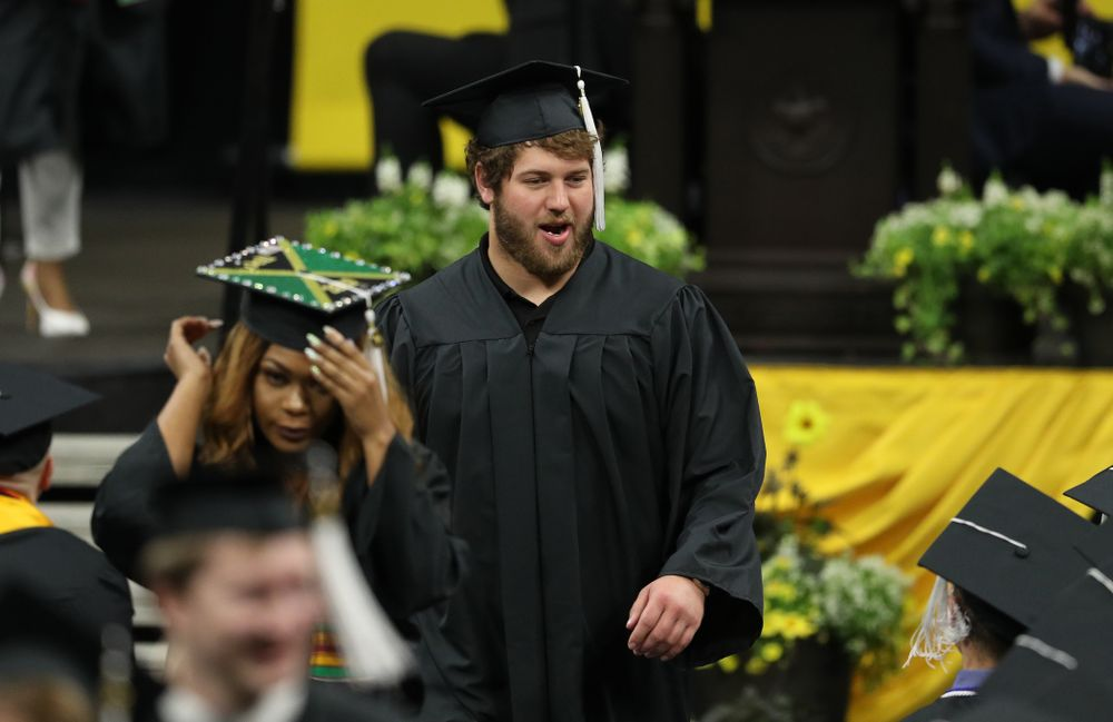 during the College of Liberal Arts and Sciences spring commencement Saturday, May 11, 2019 at Carver-Hawkeye Arena. (Brian Ray/hawkeyesports.com)