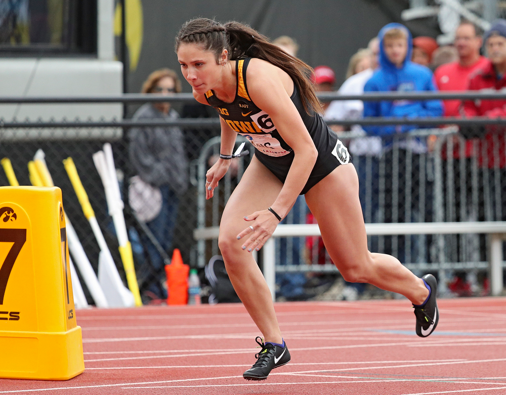 Iowa's Mallory King runs in the women's 800 meter event on the second day of the Big Ten Outdoor Track and Field Championships at Francis X. Cretzmeyer Track in Iowa City on Saturday, May. 11, 2019. (Stephen Mally/hawkeyesports.com)