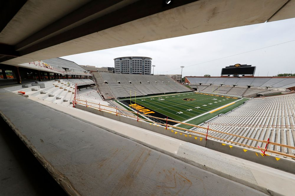 The view from the northwest corner of the club level of the north end zone Wednesday, June 6, 2018 at Kinnick Stadium. (Brian Ray/hawkeyesports.com)