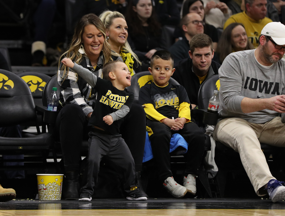 Fans dance during the Iowa Hawkeyes game against the Northwestern Wildcats Sunday, February 10, 2019 at Carver-Hawkeye Arena. (Brian Ray/hawkeyesports.com)