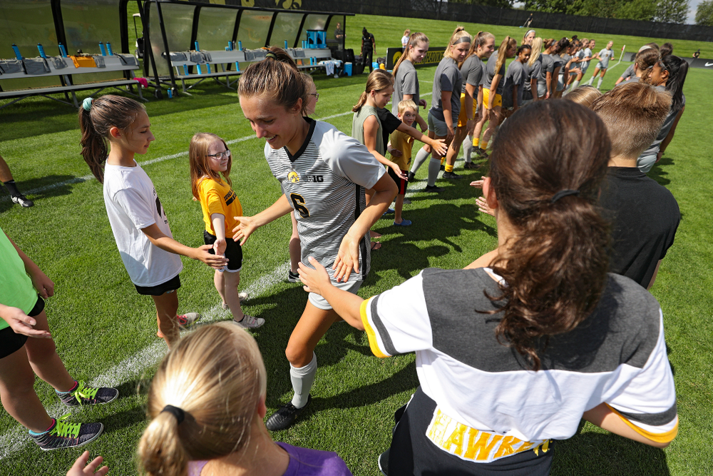 Iowa midfielder Isabella Blackman (6) takes the field for their match at the Iowa Soccer Complex in Iowa City on Sunday, Sep 1, 2019. (Stephen Mally/hawkeyesports.com)