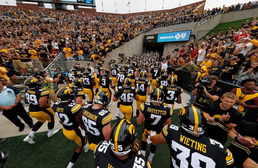The Iowa Hawkeyes against the Iowa State Cyclones Saturday, September 8, 2018 at Kinnick Stadium. (Brian Ray/hawkeyesports.com)