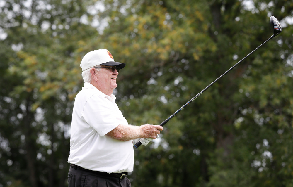 Dr. Tom Davis at the 2018 Chris Street Memorial Golf Outing Monday, August 27, 2018 at Finkbine Golf Course. (Brian Ray/hawkeyesports.com)