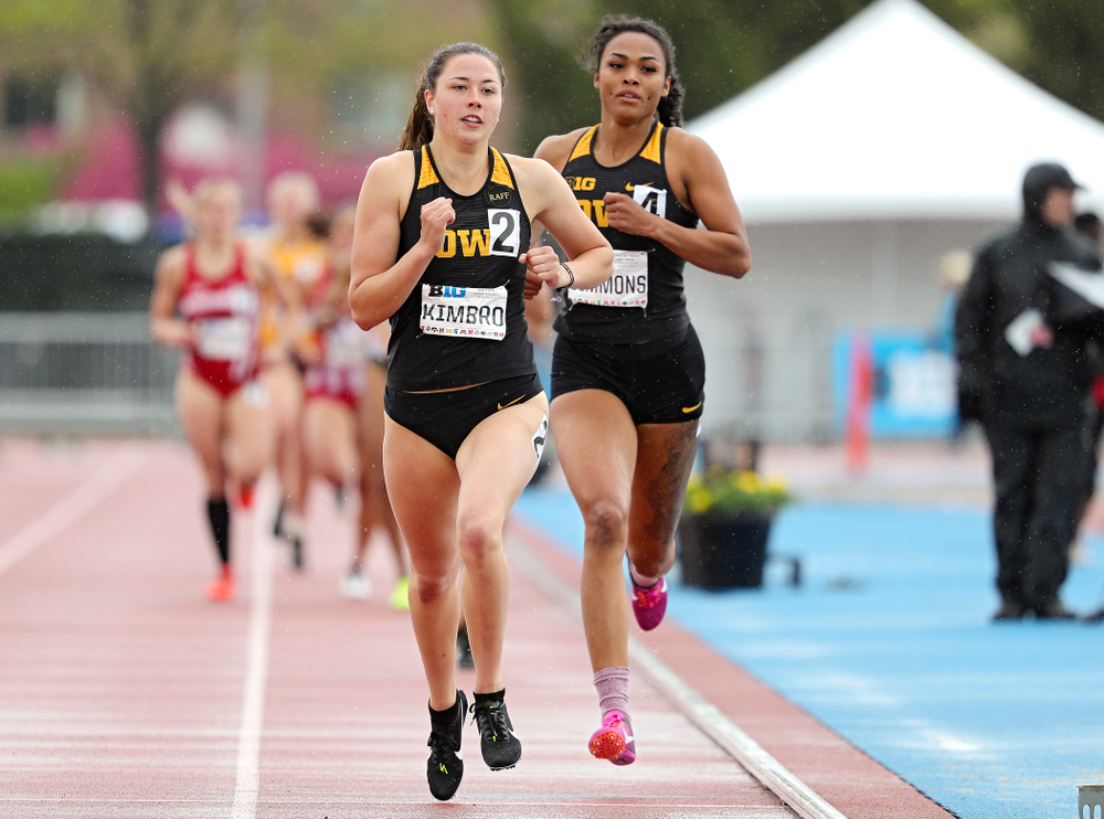 Iowa's Jenny Kimbro (from left) and Tria Simmons 