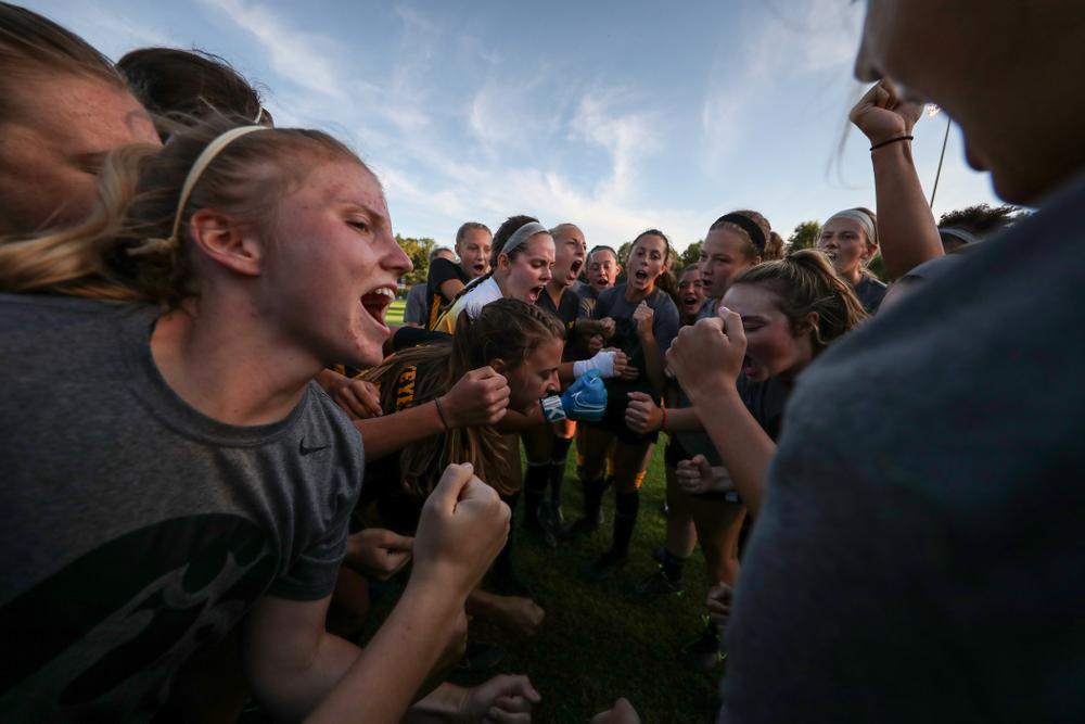 The Iowa Hawkeyes against Western Michigan Thursday, August 22, 2019 at the Iowa Soccer Complex. (Brian Ray/hawkeyesports.com)