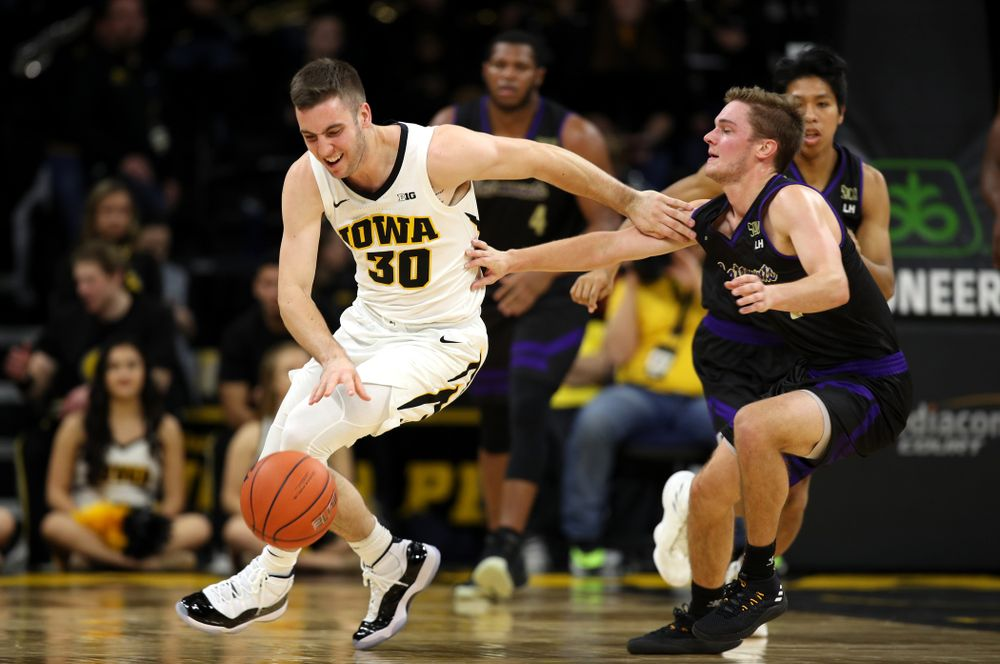 Iowa Hawkeyes guard Connor McCaffery (30) against the Western Carolina Catamounts Tuesday, December 18, 2018 at Carver-Hawkeye Arena. (Brian Ray/hawkeyesports.com)
