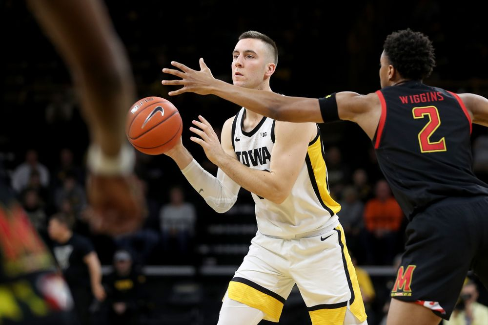 Iowa Hawkeyes guard Connor McCaffery (30) against the Maryland Terrapins Friday, January 10, 2020 at Carver-Hawkeye Arena. (Brian Ray/hawkeyesports.com)