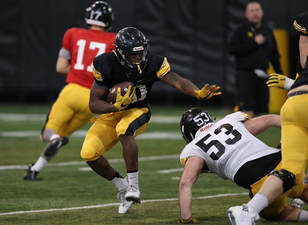 Iowa Hawkeyes running back Henry Geil (30) during preparation for the 2019 Outback Bowl Wednesday, December 19, 2018 at the Hansen Football Performance Center. (Brian Ray/hawkeyesports.com)