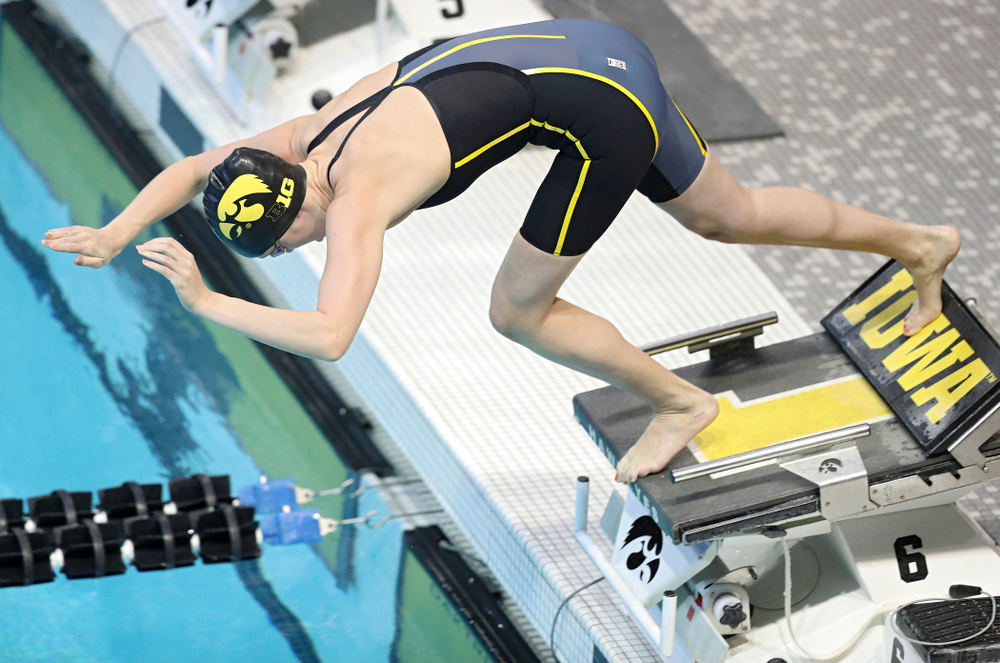 Iowa's Macy Rink swims the women's 200 yard freestyle preliminary event during the 2020 Women's Big Ten Swimming and Diving Championships at the Campus Recreation and Wellness Center in Iowa City on Friday, February 21, 2020. (Stephen Mally/hawkeyesports.com)