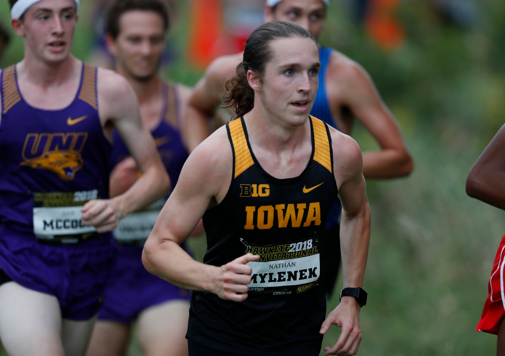 Nathan Mylenek during the Hawkeye Invitational Friday, August 31, 2018 at the Ashton Cross Country Course.  (Brian Ray/hawkeyesports.com)