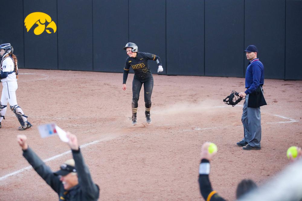 IowaÕs Mallory Kilian (11) at softball vs Illinois game 3 on Saturday, April 13, 2019 at Bob Pearl Field. (Lily Smith/hawkeyesports.com)