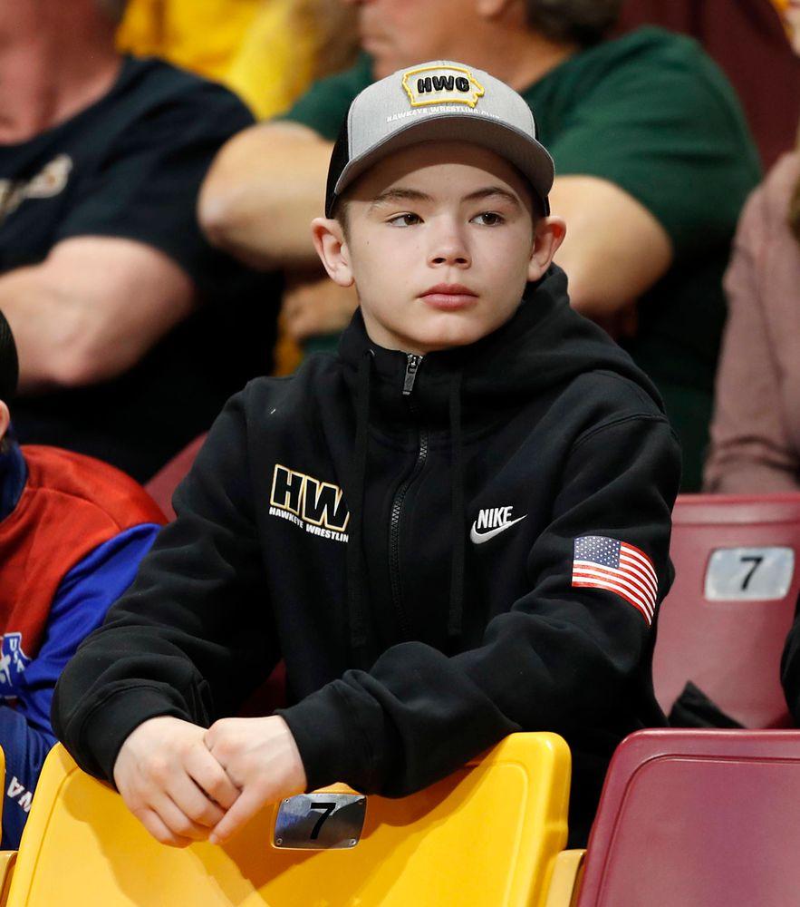 Young Hawkeye wrestling fan
