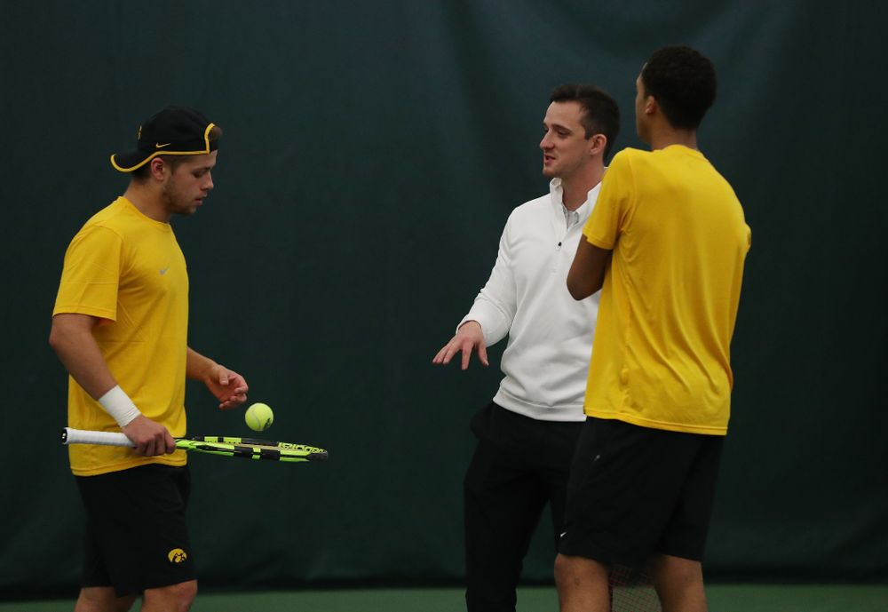 against the Butler Bulldogs Sunday, January 27, 2019 at the Hawkeye Tennis and Recreation Complex. (Brian Ray/hawkeyesports.com)