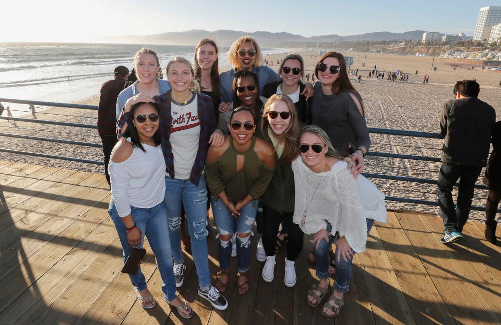 The Iowa Hawkeyes on the Santa Monica Pier Thursday, March 15, 2018 in Santa Monica. (Brian Ray/hawkeyesports.com)