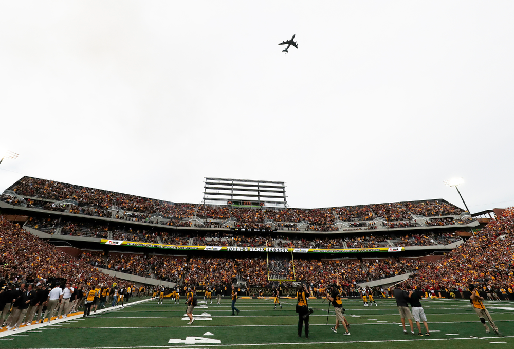 A KF-135 Stratotanker before the Iowa Hawkeyes game against the Iowa State Cyclones Saturday, September 8, 2018 at Kinnick Stadium. (Brian Ray/hawkeyesports.com)