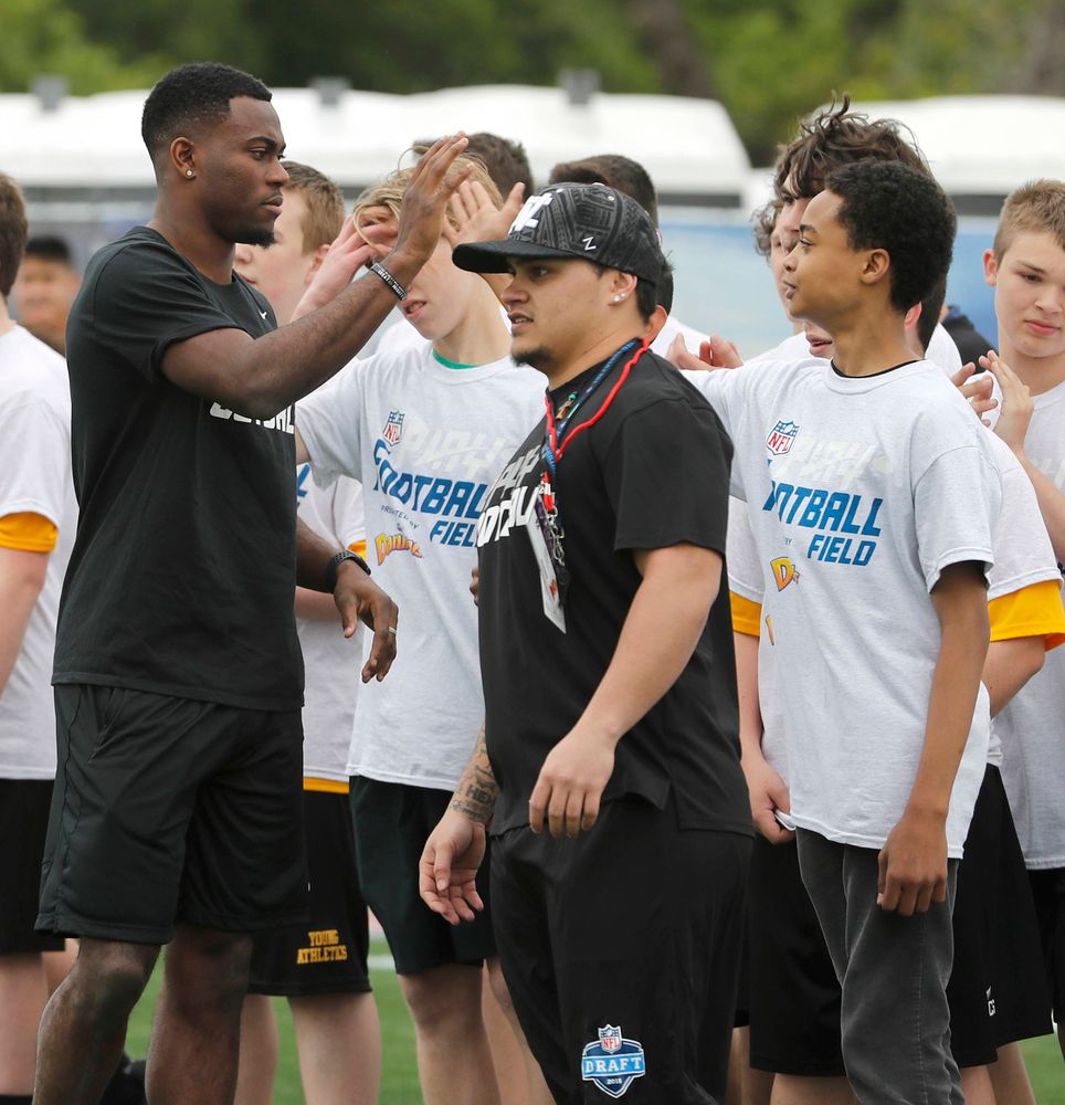 Josh Jackson at the Play Football event