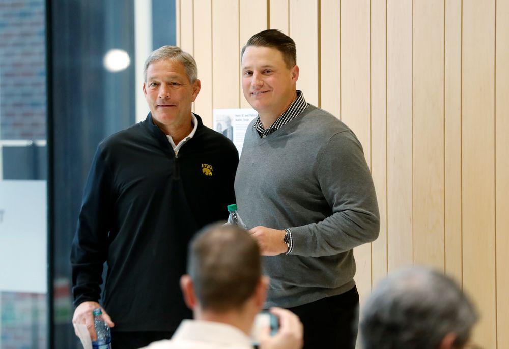 Head Coach Kirk Ferentz, Offensive Coordinator Brian Ferentz