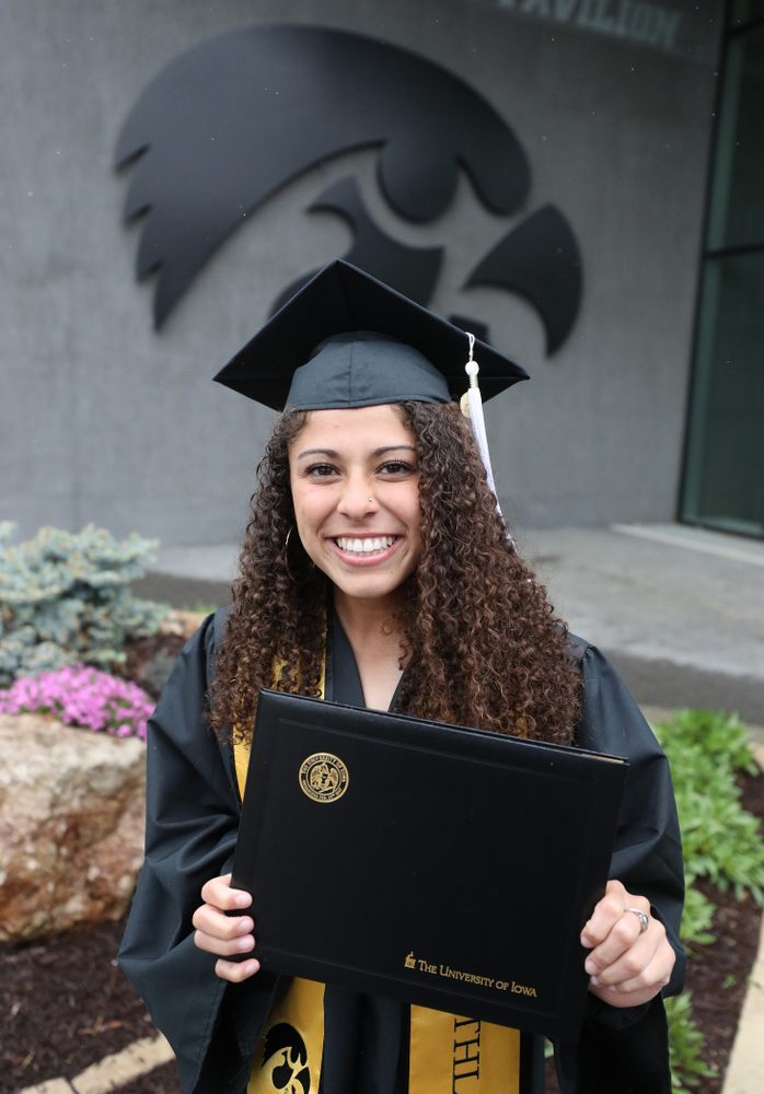 Iowa SoftballÕs Lea Thompson during the College of Liberal Arts and Sciences spring commencement Saturday, May 11, 2019 at Carver-Hawkeye Arena. (Brian Ray/hawkeyesports.com)