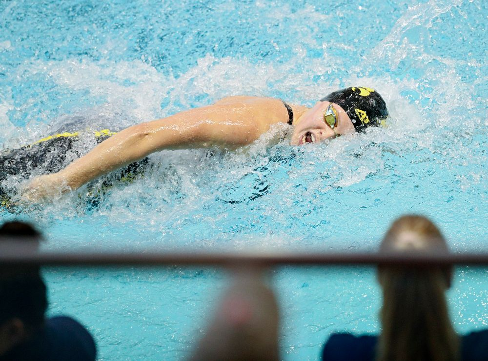 Iowa's Julia Koluch swims the women's 50 yard freestyle preliminary event during the 2020 Women's Big Ten Swimming and Diving Championships at the Campus Recreation and Wellness Center in Iowa City on Thursday, February 20, 2020. (Stephen Mally/hawkeyesports.com)