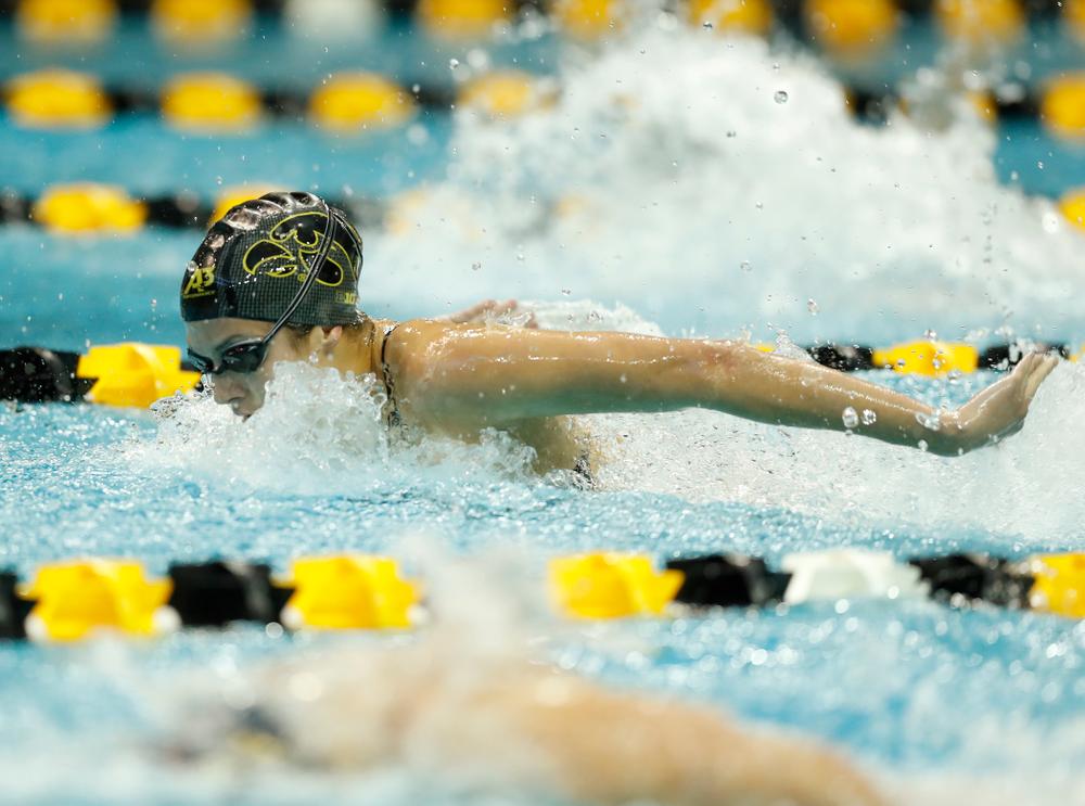 Iowa's Tereysa Lehnertz swims the 200 yard butterfly