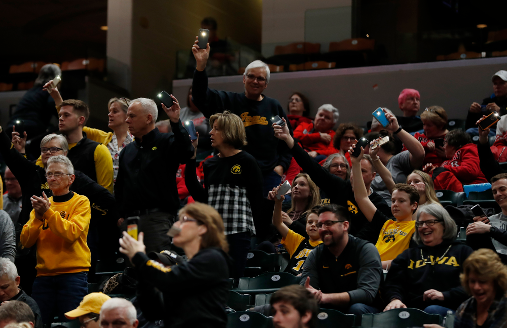 Fans of the Iowa Hawkeyes