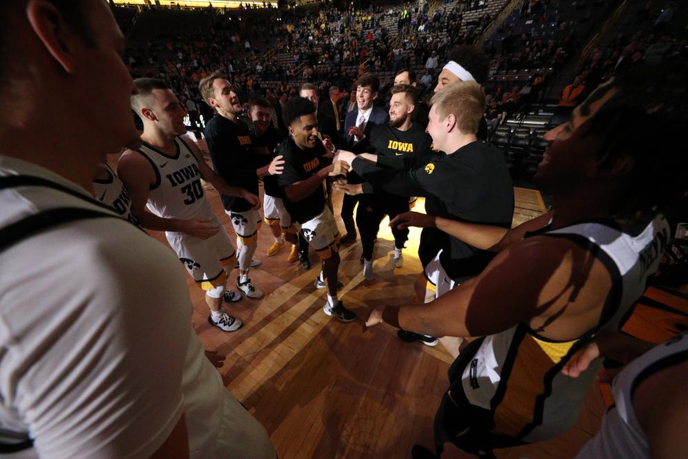The Iowa Hawkeyes against Oral Roberts Friday, November 15, 2019 at Carver-Hawkeye Arena. (Brian Ray/hawkeyesports.com)