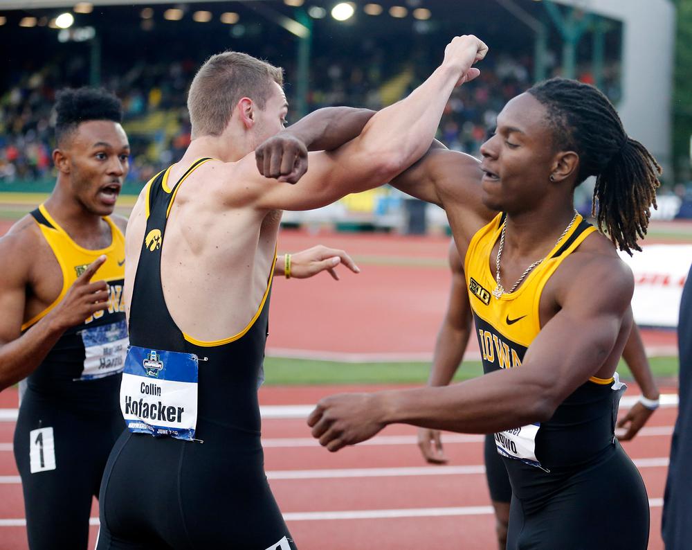 Collin HOfacker, Emmanuel Ogwo -- 4x400 relay