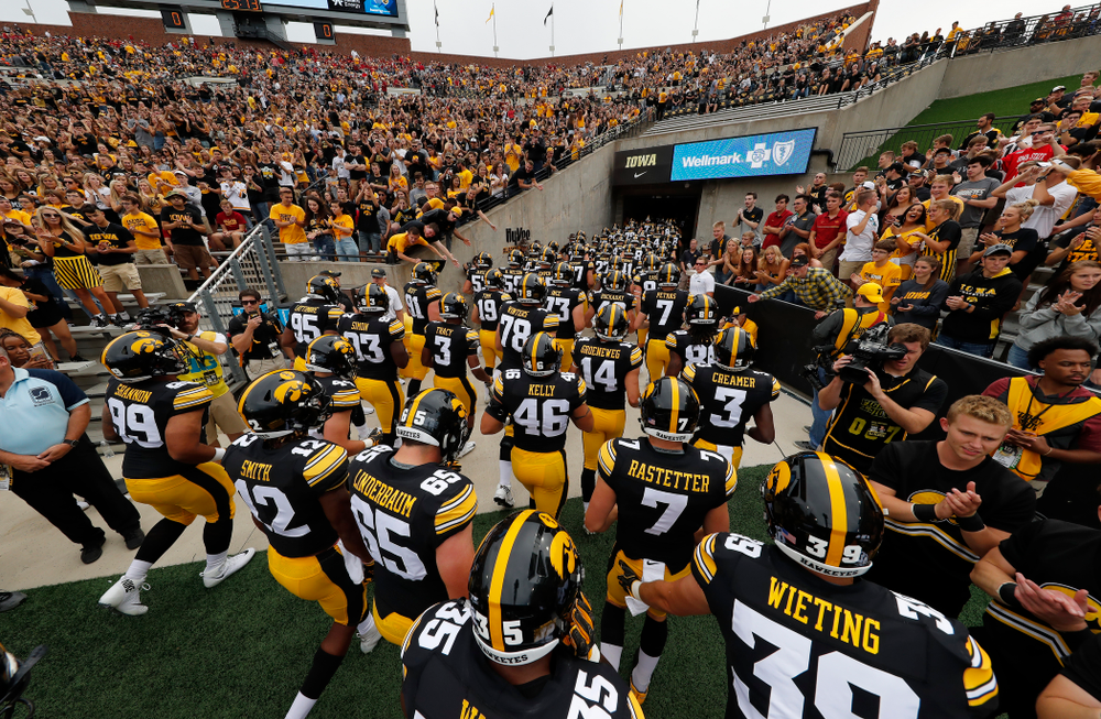 The Iowa Hawkeyes against the Iowa State Cyclones Saturday, September 8, 2018 at Kinnick Stadium. (Brian Ray/hawkeyesports.com)