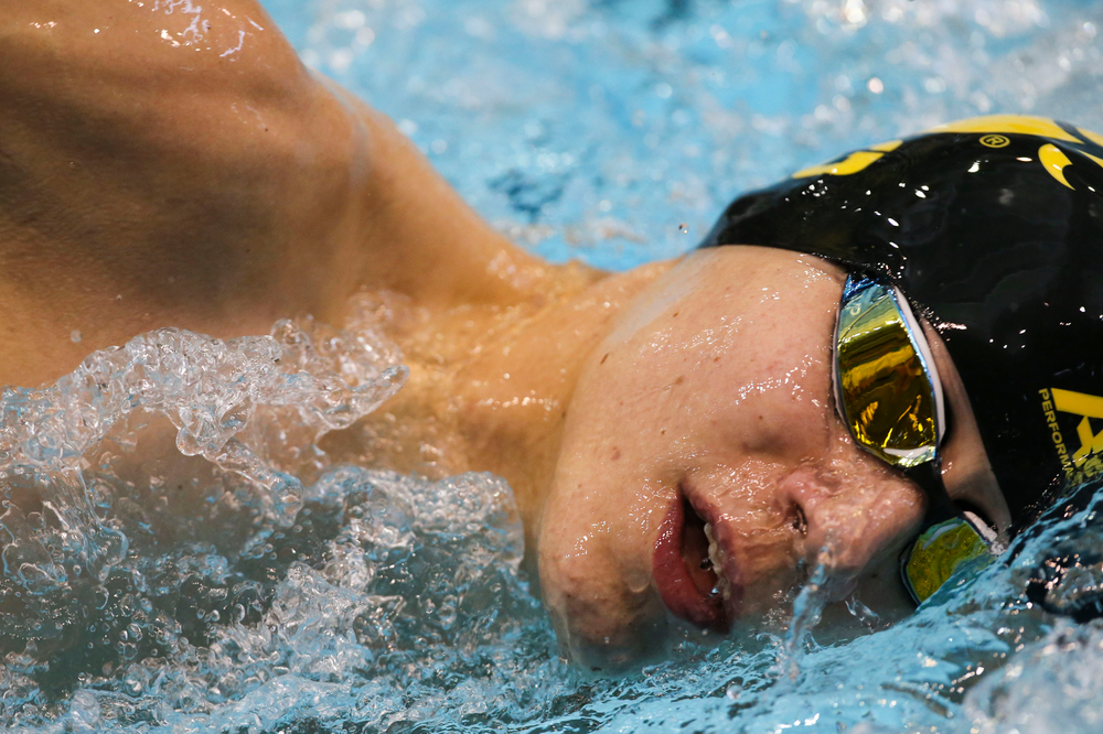 Iowa's Andrew Fierke during Iowa swim and dive vs Minnesota on Saturday, October 26, 2019 at the Campus Wellness and Recreation Center. (Lily Smith/hawkeyesports.com)