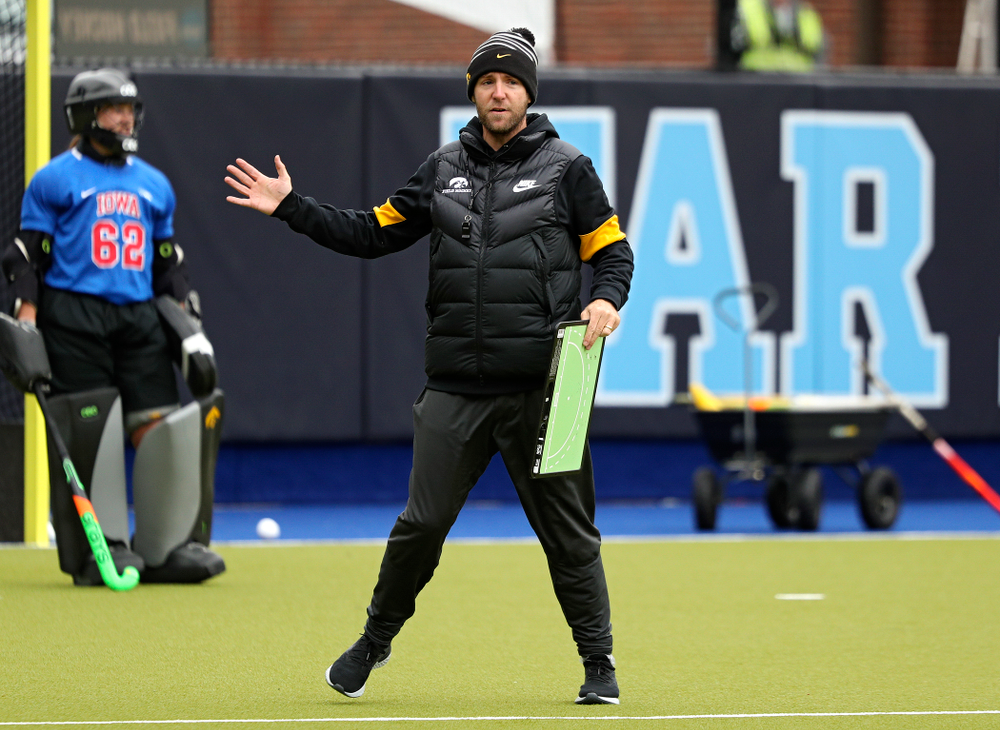 Iowa assistant coach Michael Boal during their practice at Karen Shelton Stadium in Chapel Hill, N.C. on Thursday, Nov 14, 2019. (Stephen Mally/hawkeyesports.com)