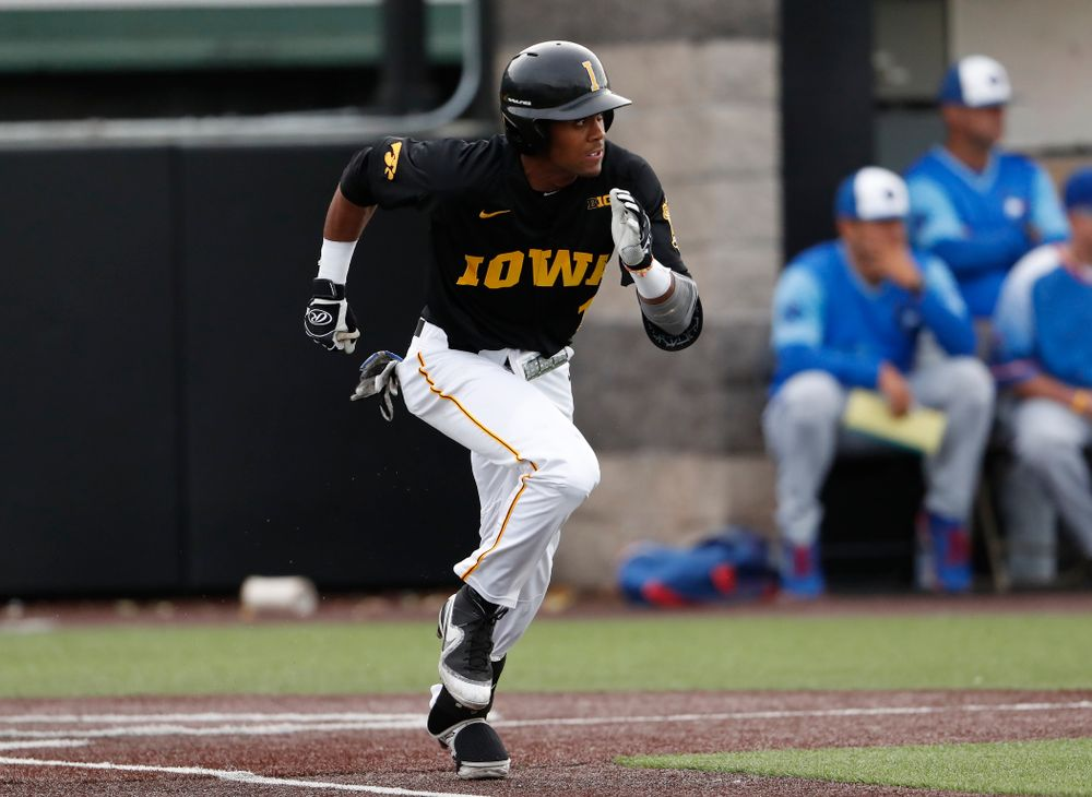 Lorenzo Elion against the Ontario Blue Jays Friday, September 21, 2018 at Duane Banks Field. (Brian Ray/hawkeyesports.com)