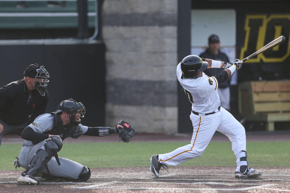 Iowa infielder Izaya Fullard  at baseball vs Milwaukee on Tuesday, April 23, 2019 at Duane Banks Field. (Lily Smith/hawkeyesports.com)