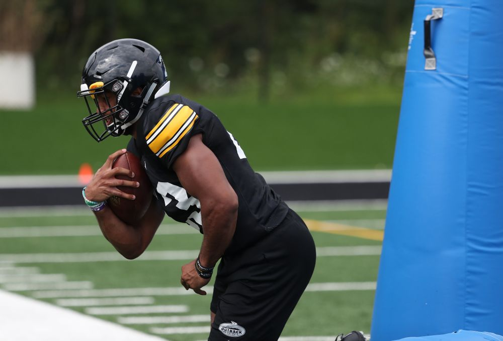 Iowa Hawkeyes wide receiver Dominique Dafney (23) during practice No. 4 of Fall Camp Monday, August 6, 2018 at the Hansen Football Performance Center. (Brian Ray/hawkeyesports.com)