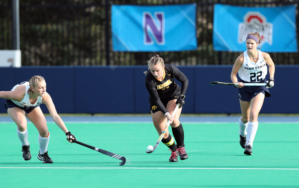 Iowa Hawkeyes Katie Birch (11) against Penn State in the 2019 Big Ten Field Hockey Tournament Championship Game Sunday, November 10, 2019 in State College. (Brian Ray/hawkeyesports.com)