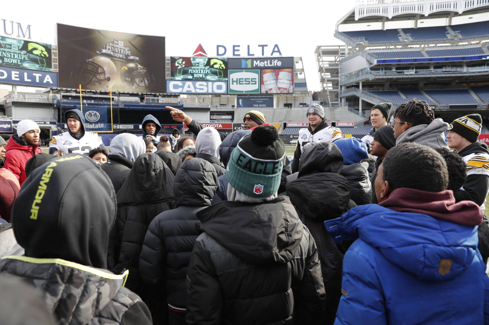 Chalk Talk Clinic at Yankee Stadium in the Bronx, New York, on Dec. 26, 2017. (Darren Miller/hawkeyesports.com)