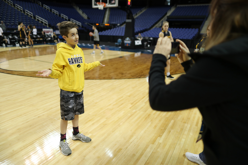 Big Ten Boy Jack Jensen-Fitzpatrick during practice and media before the regional final of the 2019 NCAA Women's College Basketball Tournament against the Baylor Bears Sunday, March 31, 2019 at Greensboro Coliseum in Greensboro, NC.(Brian Ray/hawkeyesports.com)