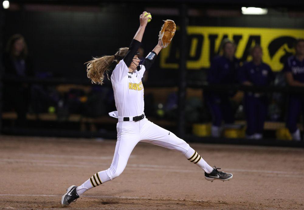 Iowa Hawkeyes Allison Doocy (3) against Western Illinois Wednesday, March 27, 2019 at Pearl Field. (Brian Ray/hawkeyesports.com)