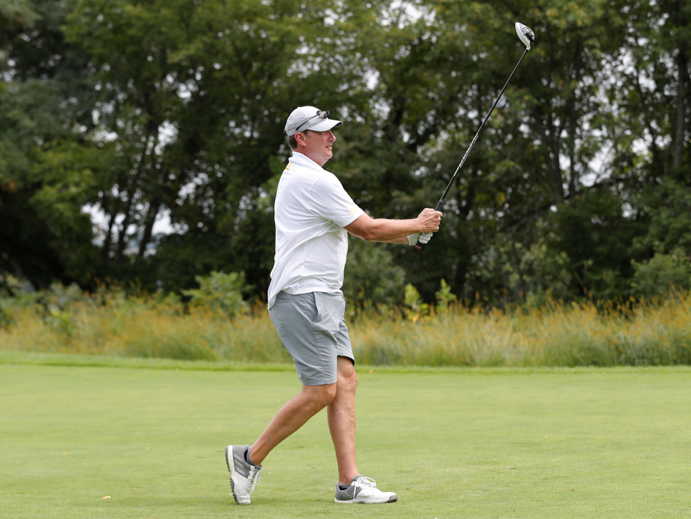 Bobby Hansen at the 2018 Chris Street Memorial Golf Outing Monday, August 27, 2018 at Finkbine Golf Course. (Brian Ray/hawkeyesports.com)