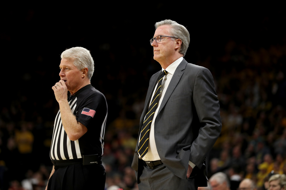 Iowa Hawkeyes head coach Fran McCaffery against the Nebraska Cornhuskers Saturday, February 8, 2020 at Carver-Hawkeye Arena. (Brian Ray/hawkeyesports.com)