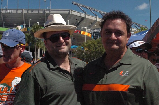 The #14'th ranked University of Miami Hurricanes play the Georgia Tech Yellow Jackets at Sun Life Stadium on October 05, 2013. Photo by Steven...