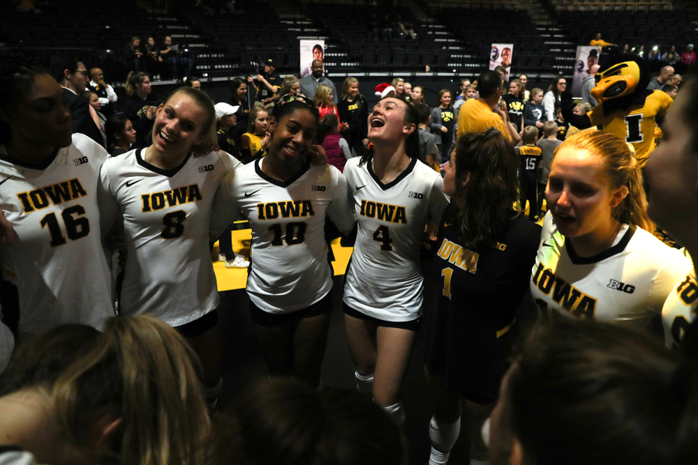 The Iowa Hawkeyes during senior day activities before their game against the Ohio State Buckeyes Saturday, November 24, 2018 at Carver-Hawkeye Arena. (Brian Ray/hawkeyesports.com)