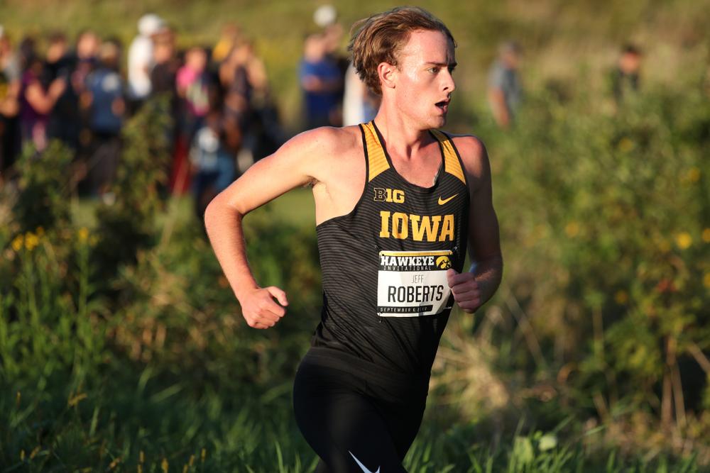 IowaÕs Jeff Roberts runs in the 2019 Hawkeye Invitational Friday, September 6, 2019 at the Ashton Cross Country Course. (Brian Ray/hawkeyesports.com)