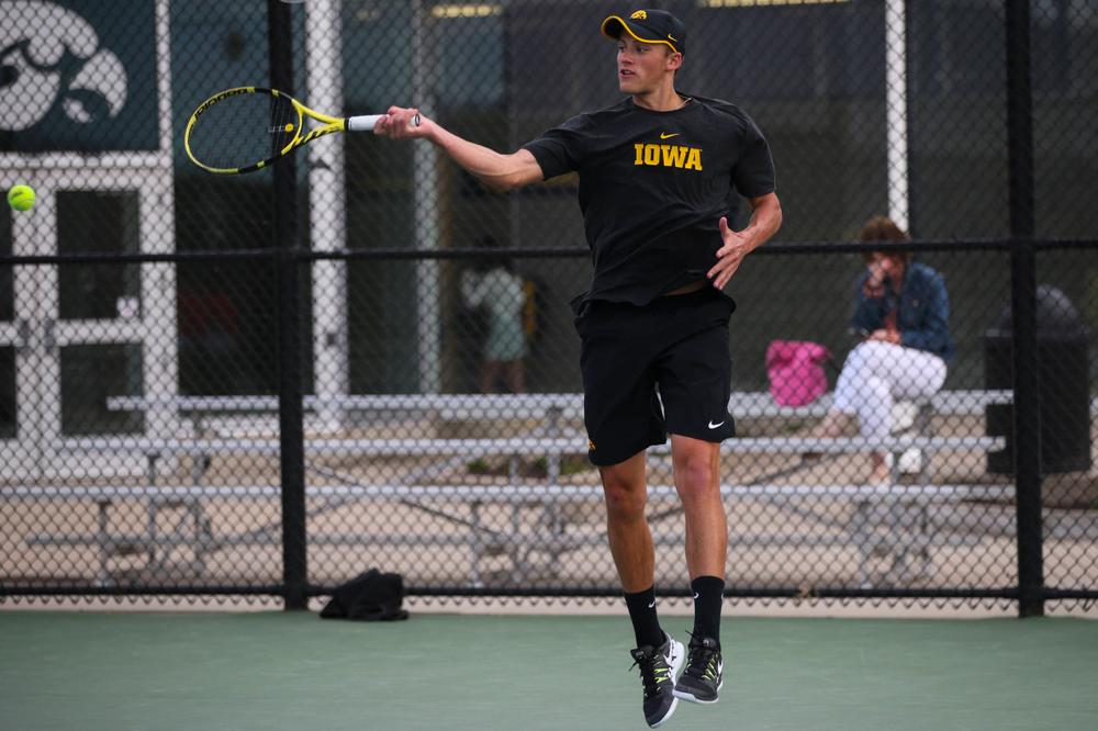 IowaÕs Nikita Snezhko at tennis vs Illinois State on Sunday, April 21, 2019 at the Hawkeye Tennis and Recreation Complex. (Lily Smith/hawkeyesports.com)