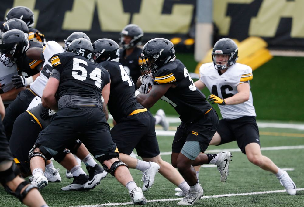 Iowa Hawkeyes running back Henry Geil (30) during practice No. 4 of Fall Camp Monday, August 6, 2018 at the Hansen Football Performance Center. (Brian Ray/hawkeyesports.com)