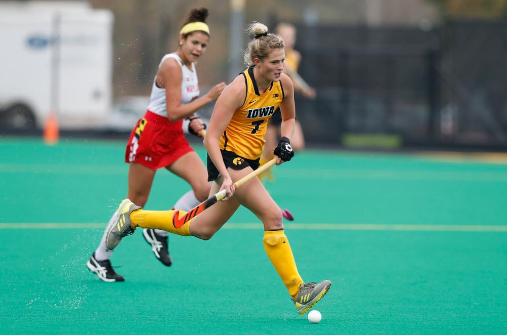 Iowa Hawkeyes Ellie Holley (7) against Maryland Sunday, October 14, 2018 at Grant Field. (Brian Ray/hawkeyesports.com)