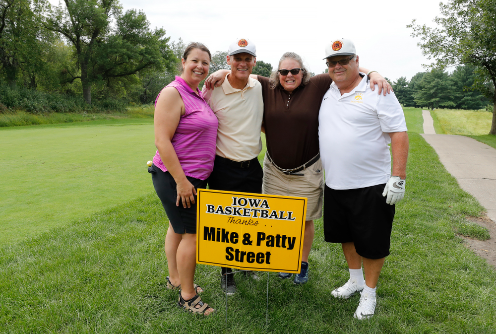 Mike Street, Gary Close, Satah Stone, and Betsy Stursma at the 2018 Chris Street Memorial Golf Outing Monday, August 27, 2018 at Finkbine Golf Course. (Brian Ray/hawkeyesports.com)