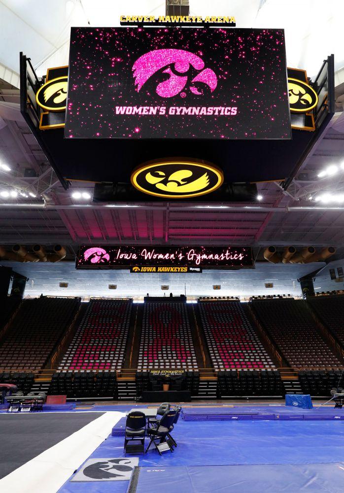Iowa Women's Gymnastics Pink Meet vs Ball State